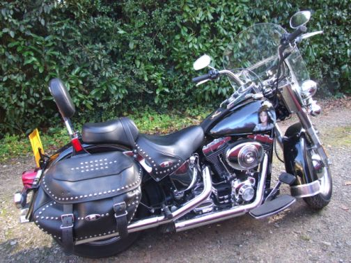 The Harley with artwork